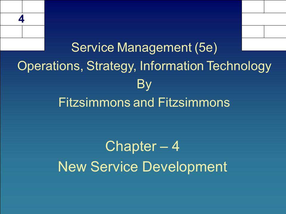 Chapter – 4 New Service Development