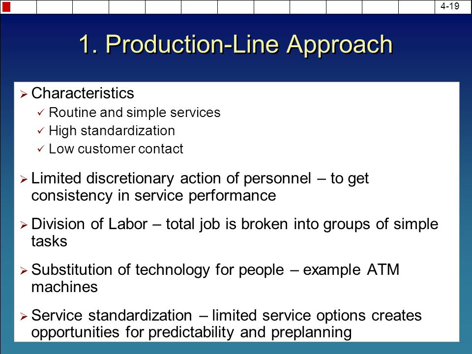 1. Production-Line Approach