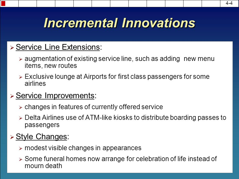 Incremental Innovations