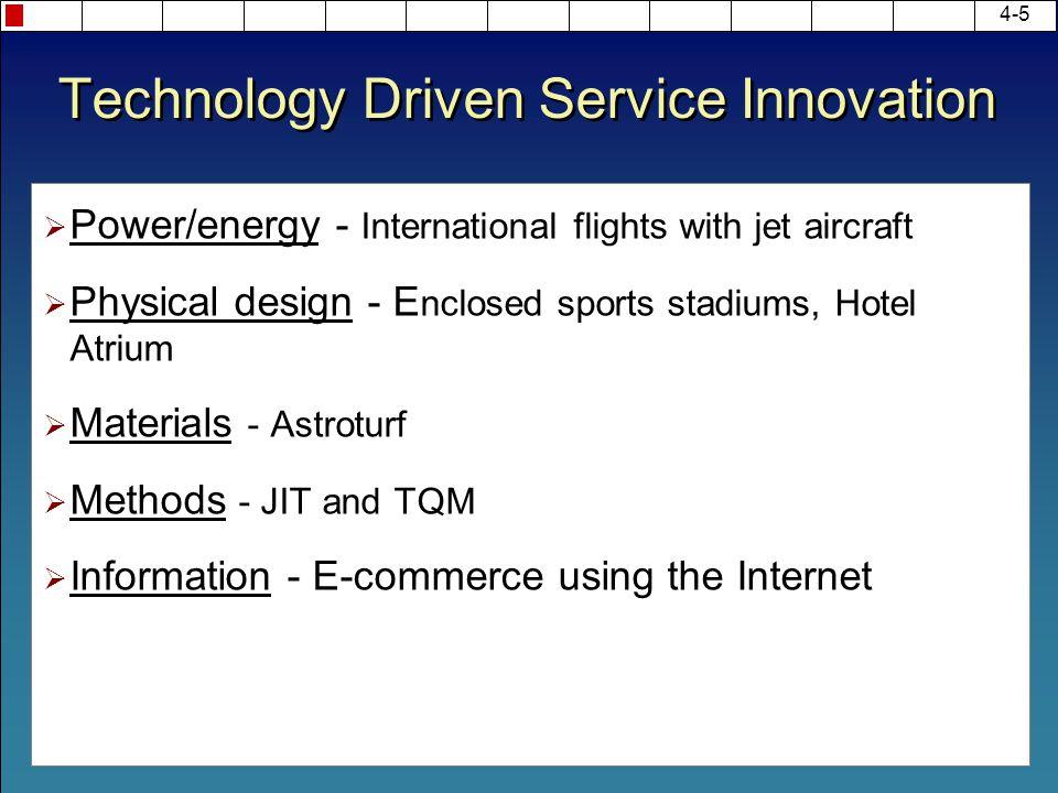Technology Driven Service Innovation