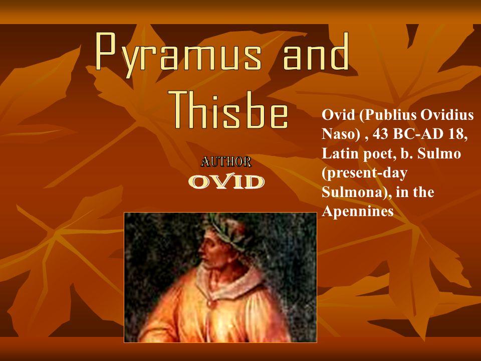 Pyramus and Thisbe OVID