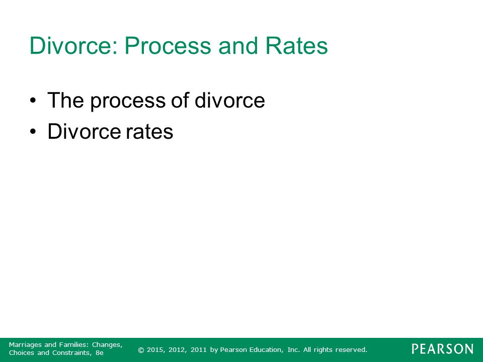 Divorce: Process and Rates
