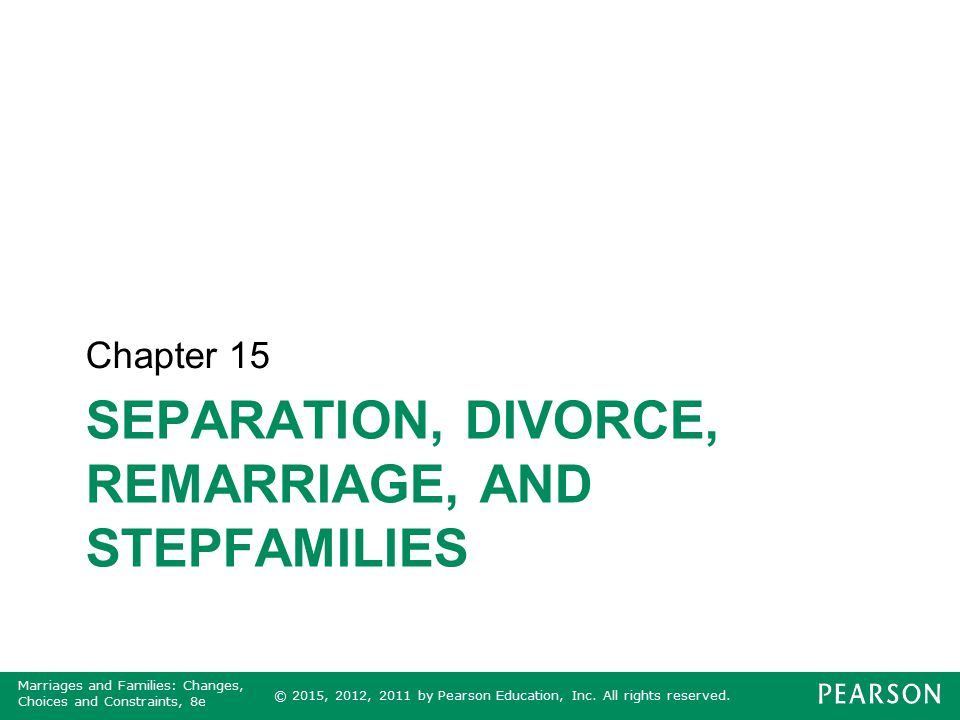Separation, Divorce, Remarriage, and Stepfamilies