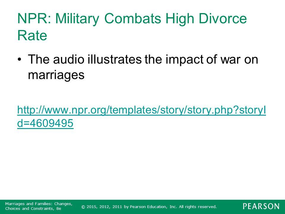 NPR: Military Combats High Divorce Rate