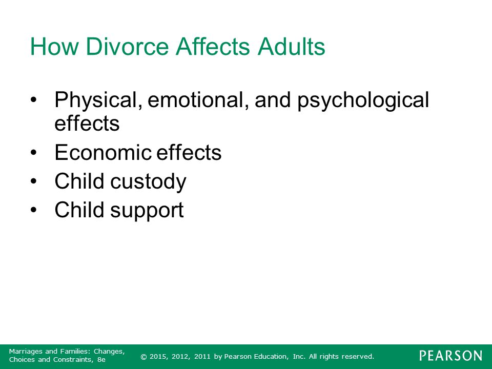 Divorce affects adults