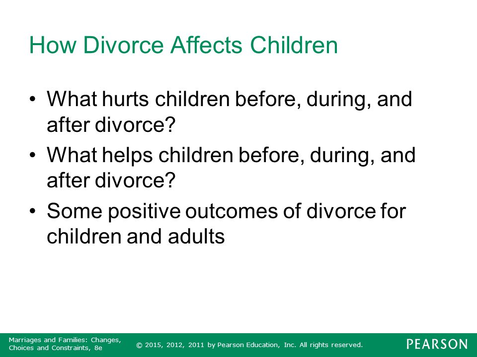 divorce hurts children Divorce typically brings out the worst in people the action itself is harmful enough for children as it is yet when you add in the different ways that many parents respond to divorce or drag their children into the middle of it, an already painful situation can become almost too excruciating to bear.