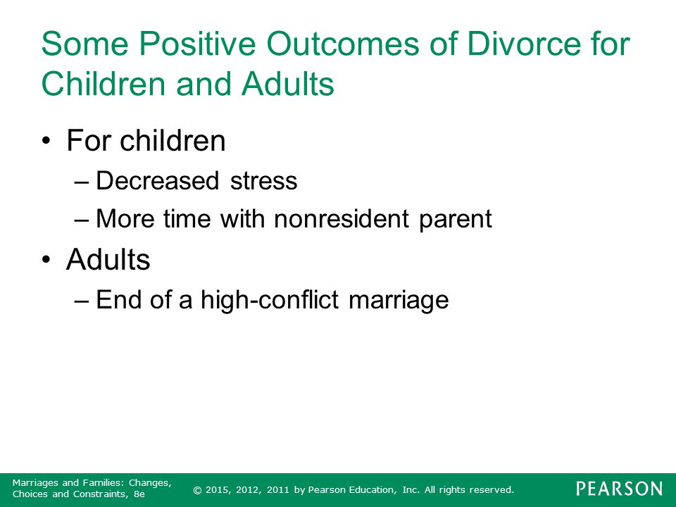 Some Positive Outcomes of Divorce for Children and Adults
