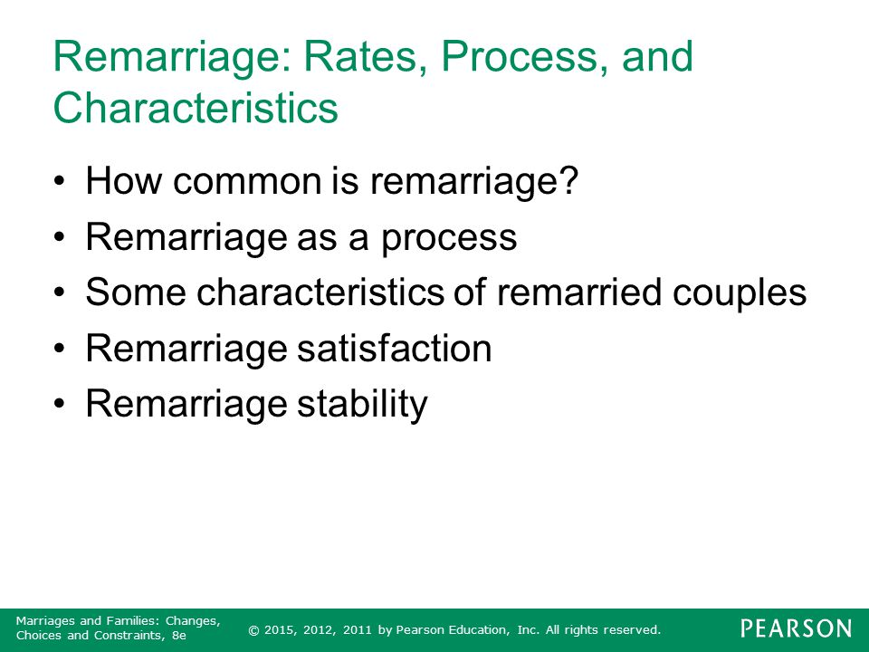 Remarriage: Rates, Process, and Characteristics