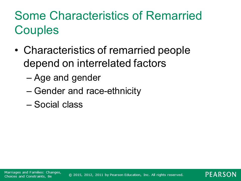 Some Characteristics of Remarried Couples