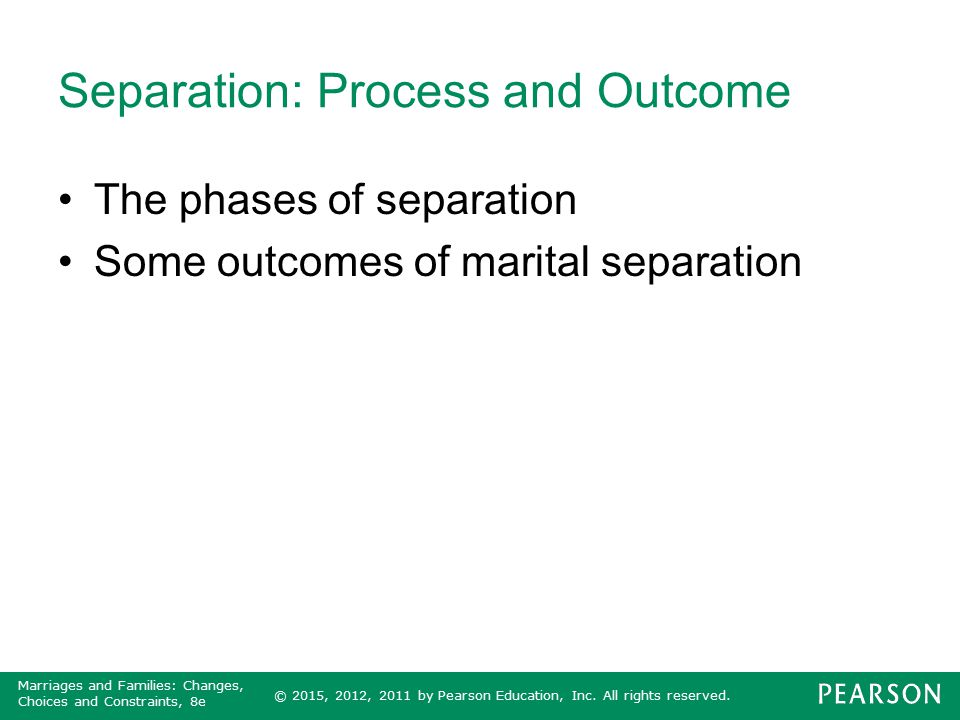 Separation: Process and Outcome