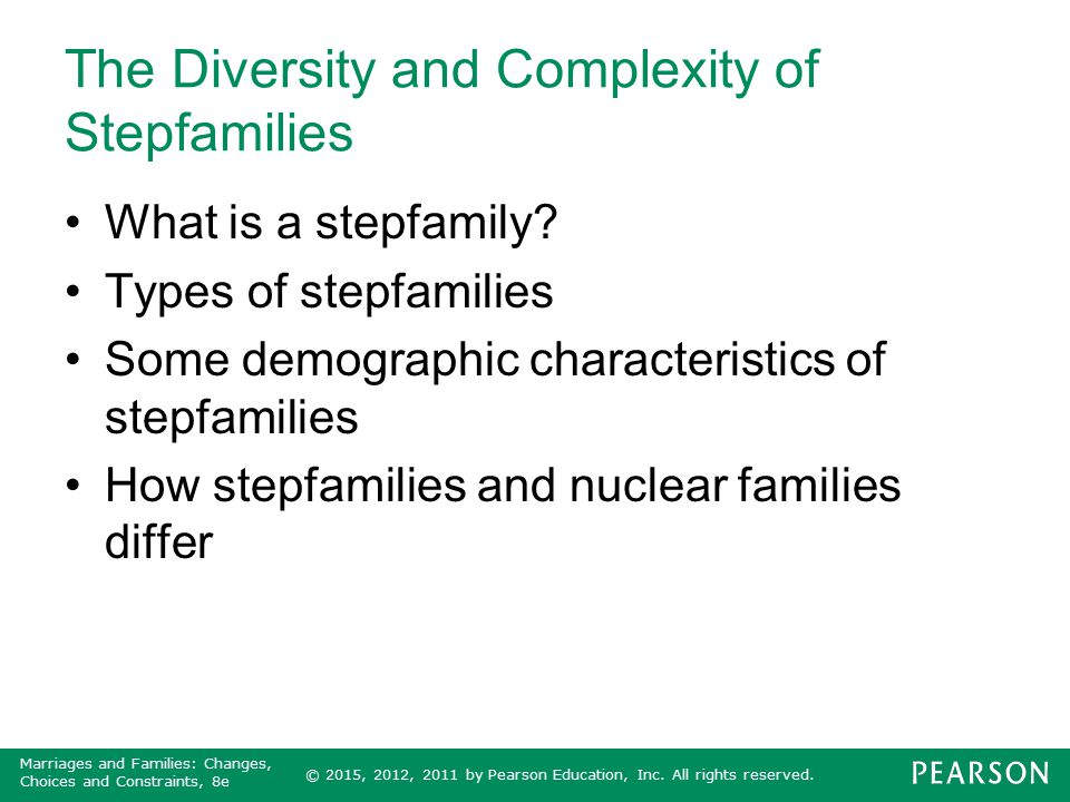 The Diversity and Complexity of Stepfamilies