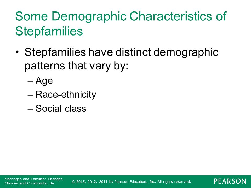 Some Demographic Characteristics of Stepfamilies