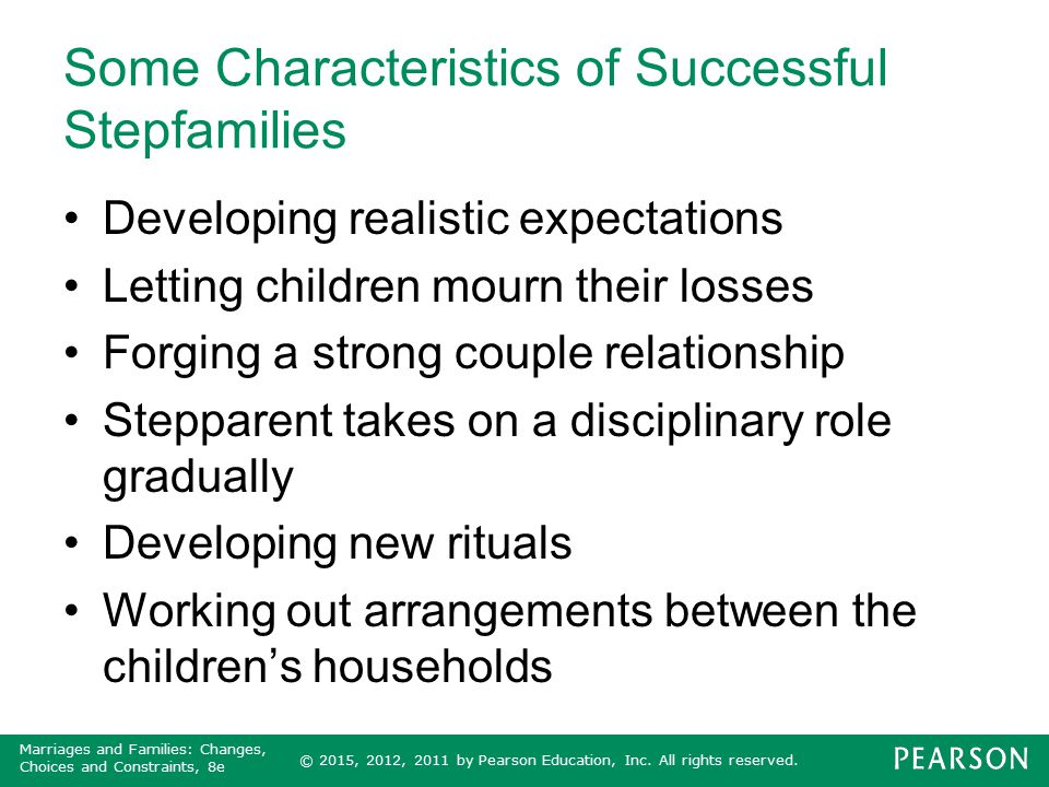Some Characteristics of Successful Stepfamilies