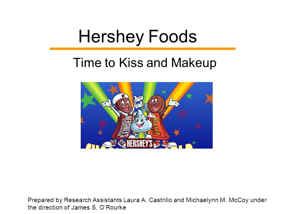 Hershey Foods Time to Kiss and Makeup