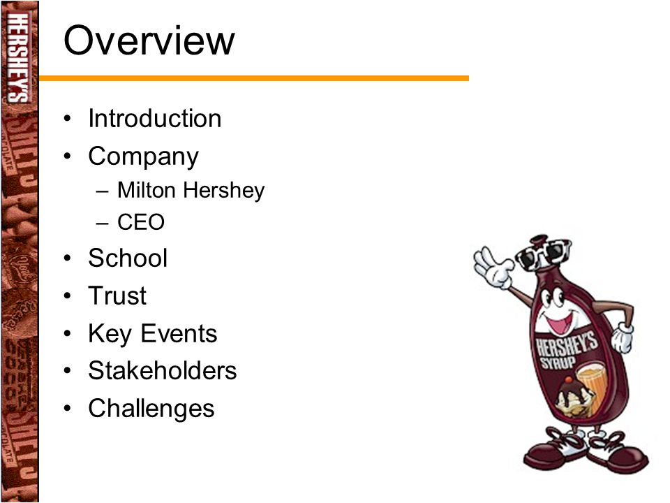 Overview Introduction Company School Trust Key Events Stakeholders