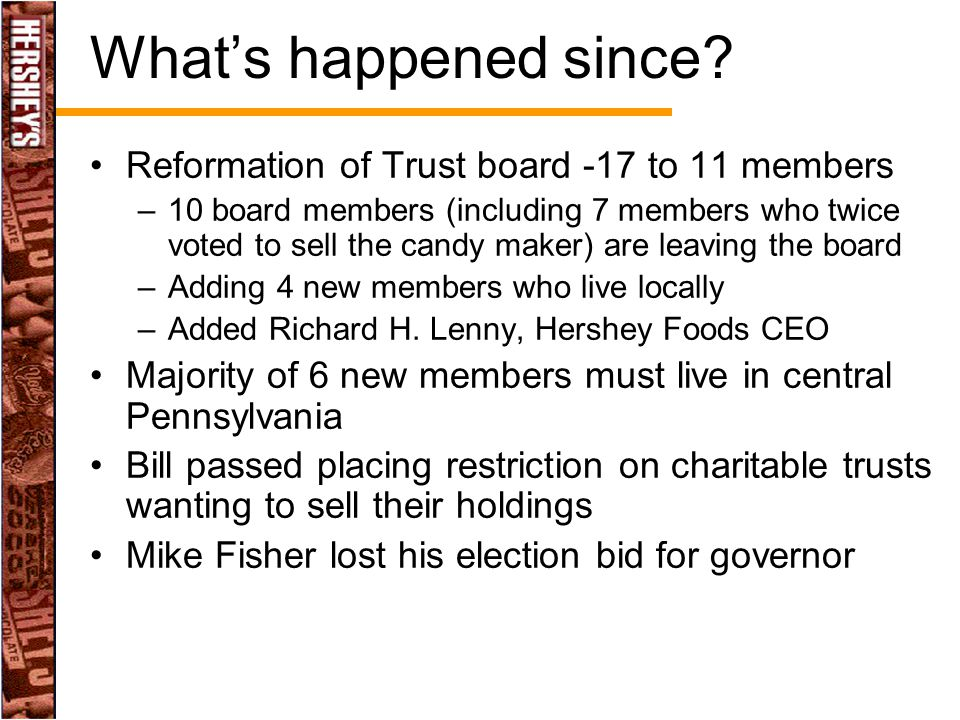 What's happened since Reformation of Trust board -17 to 11 members