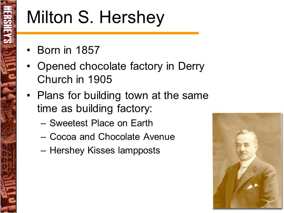Milton S. Hershey Born in 1857