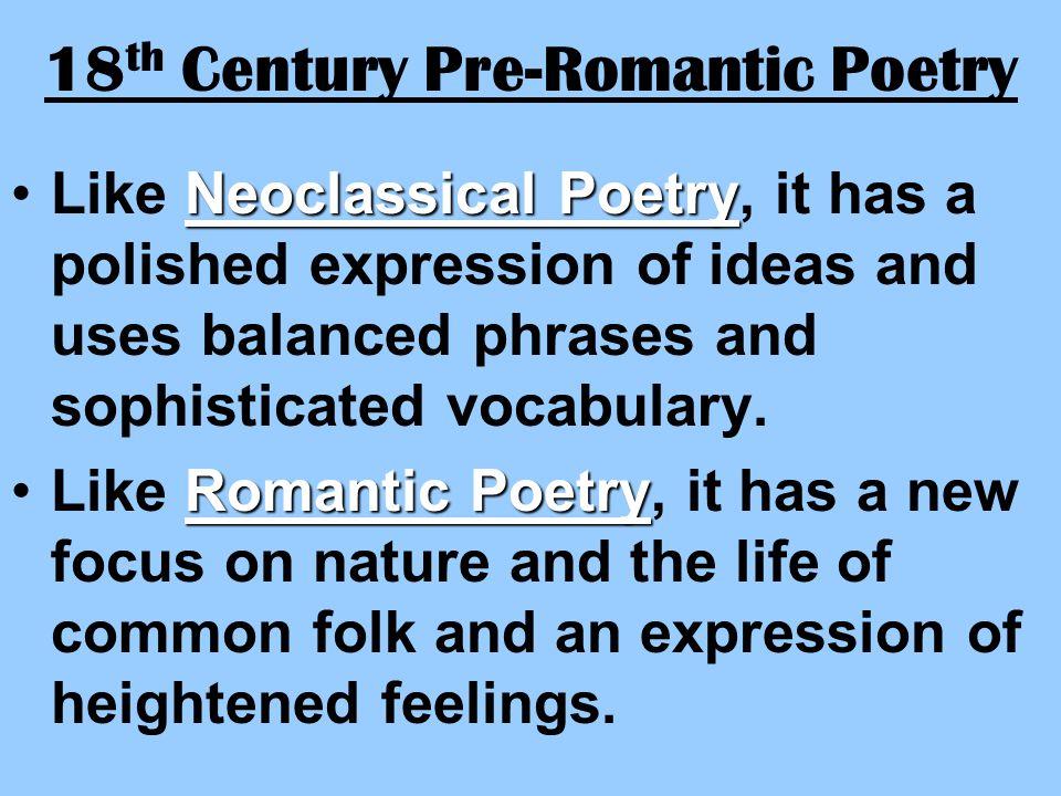 18th Century Pre-Romantic Poetry