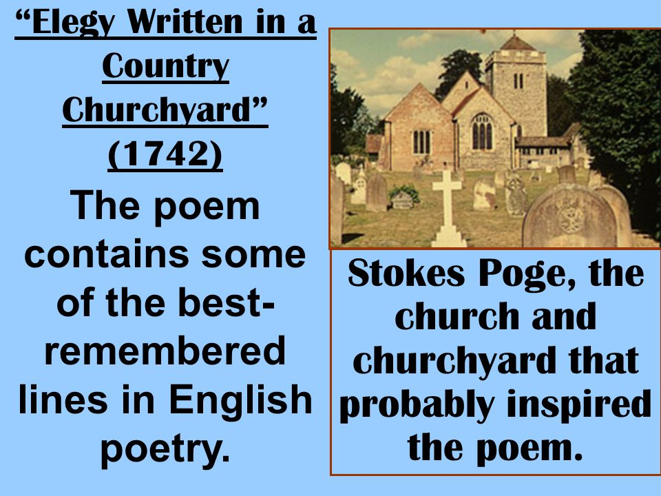 Elegy Written in a Country Churchyard (1742)