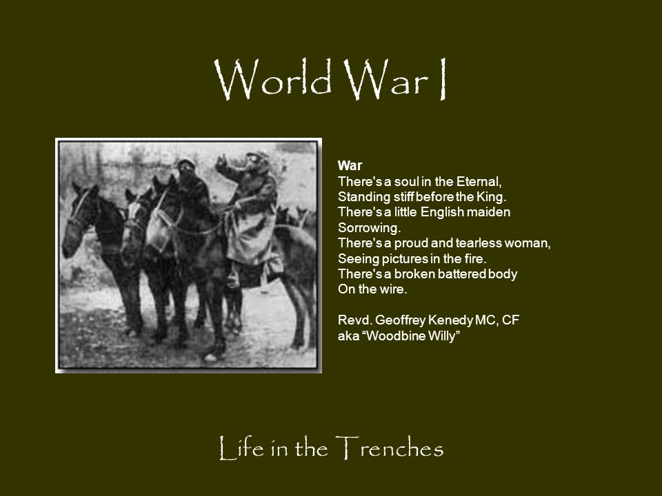 World War I Life in the Trenches War