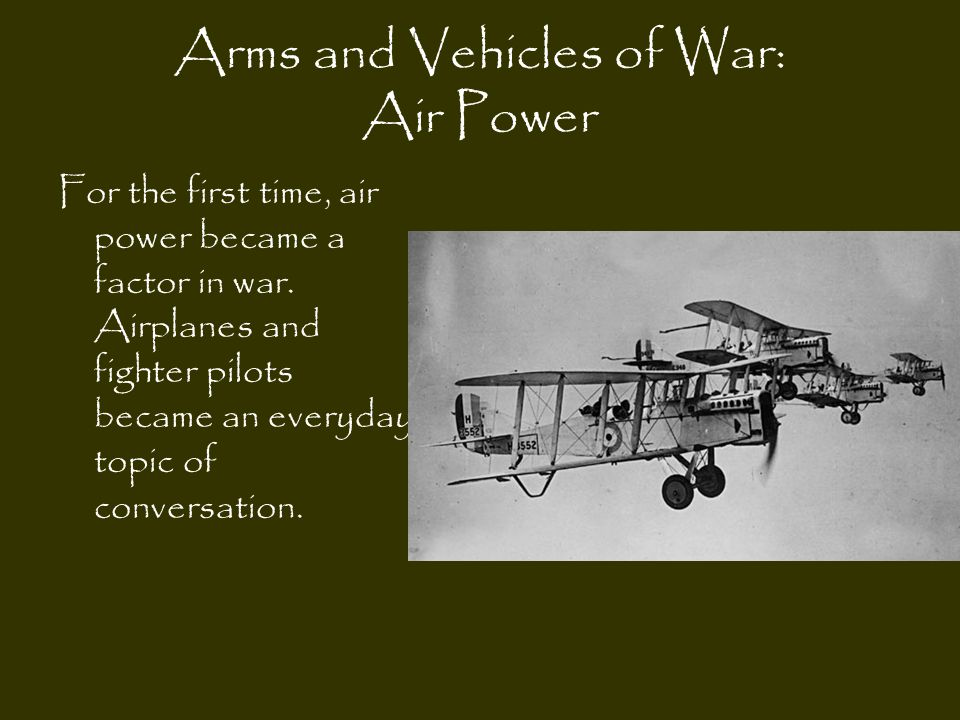 Arms and Vehicles of War: Air Power