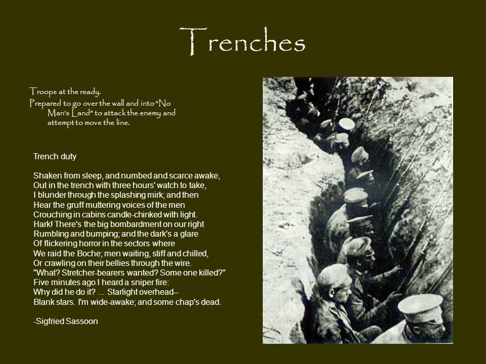 Trenches Troops at the ready.