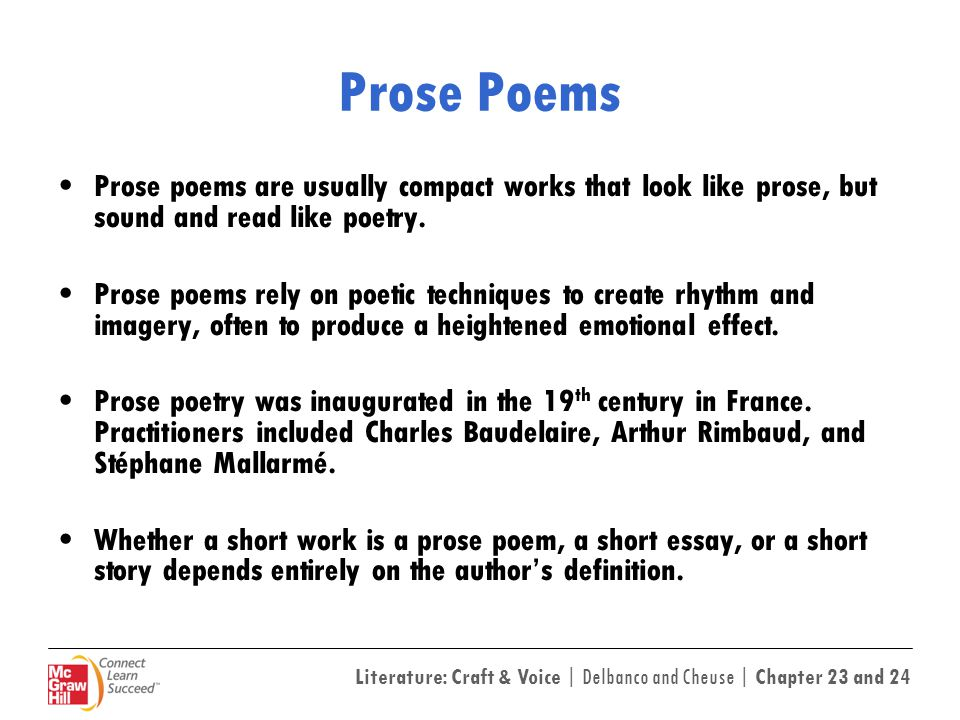 characteristics of prose work An additional way to describe the characteristics of drama would be to look at it to go through between inceptions through to being performed in a drama is a composition in verse or prose presenting a story in pantomime or it is a fictional work where characters virtually display.