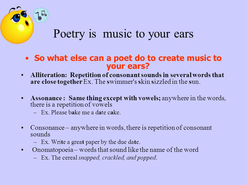 Poetry is music to your ears