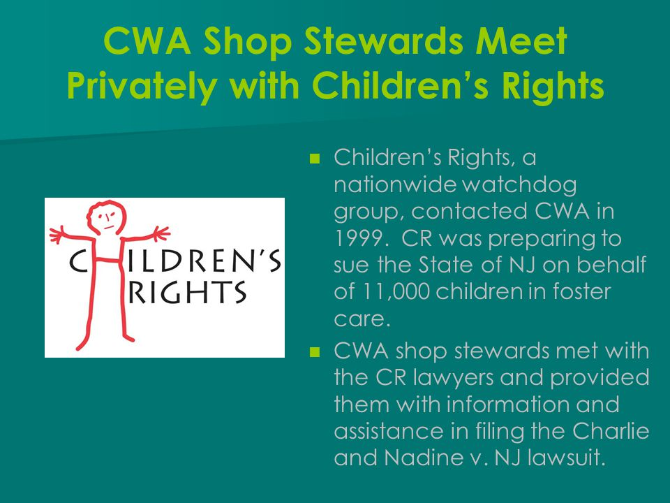 CWA Shop Stewards Meet Privately with Children's Rights