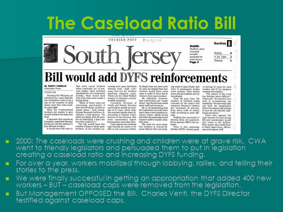 The Caseload Ratio Bill