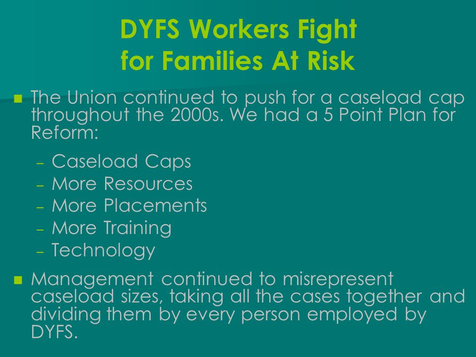 DYFS Workers Fight for Families At Risk