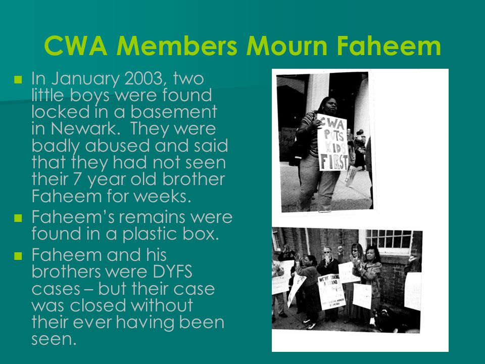 CWA Members Mourn Faheem