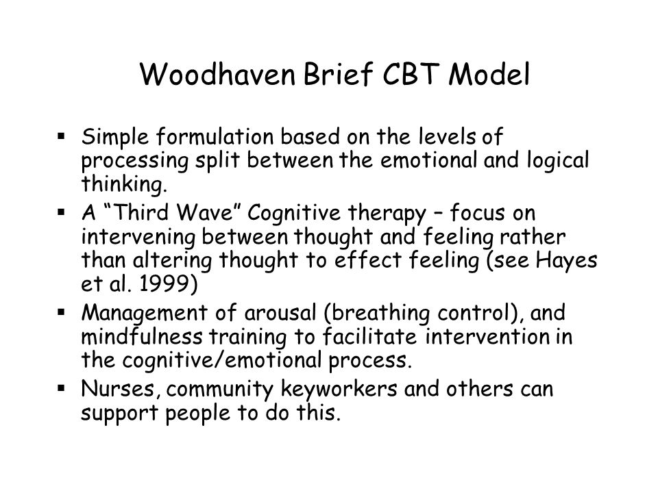Woodhaven Brief CBT Model