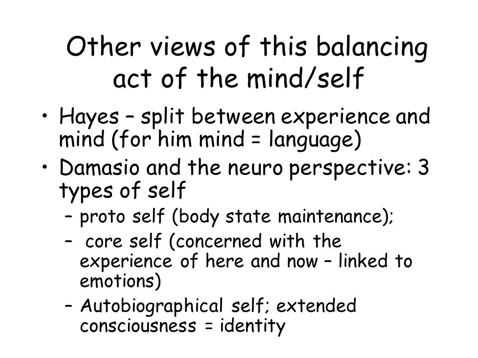 Other views of this balancing act of the mind/self