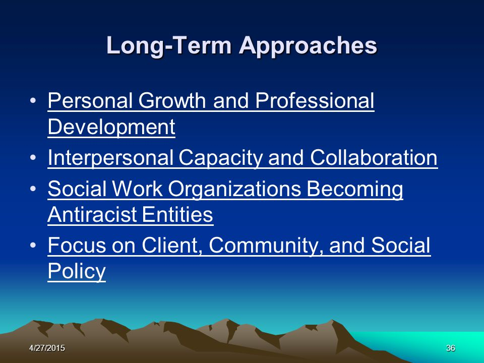 Long-Term Approaches Personal Growth and Professional Development