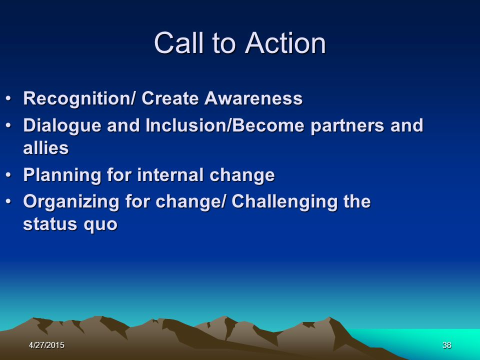 Call to Action Recognition/ Create Awareness