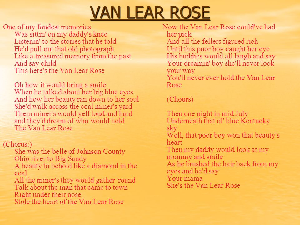 VAN LEAR ROSE