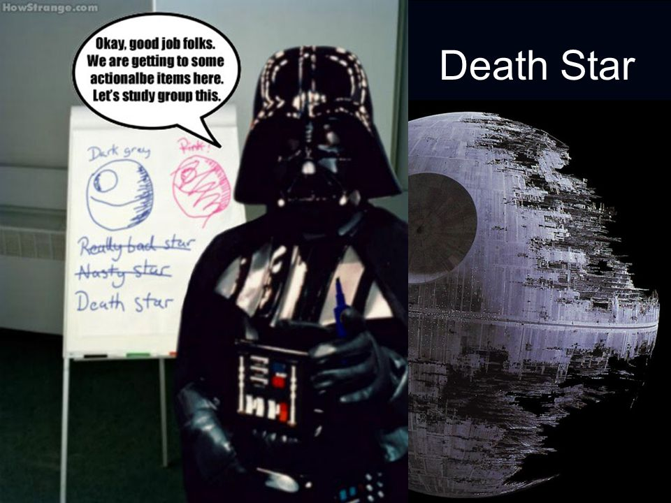 Death Star Death is talked about in a flippant way today…