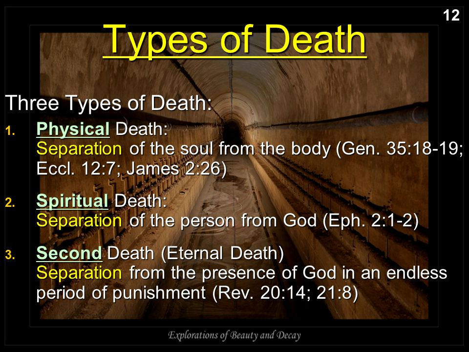Types of Death Three Types of Death: