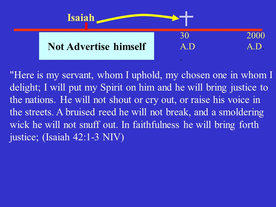 Isaiah Not Advertise himself