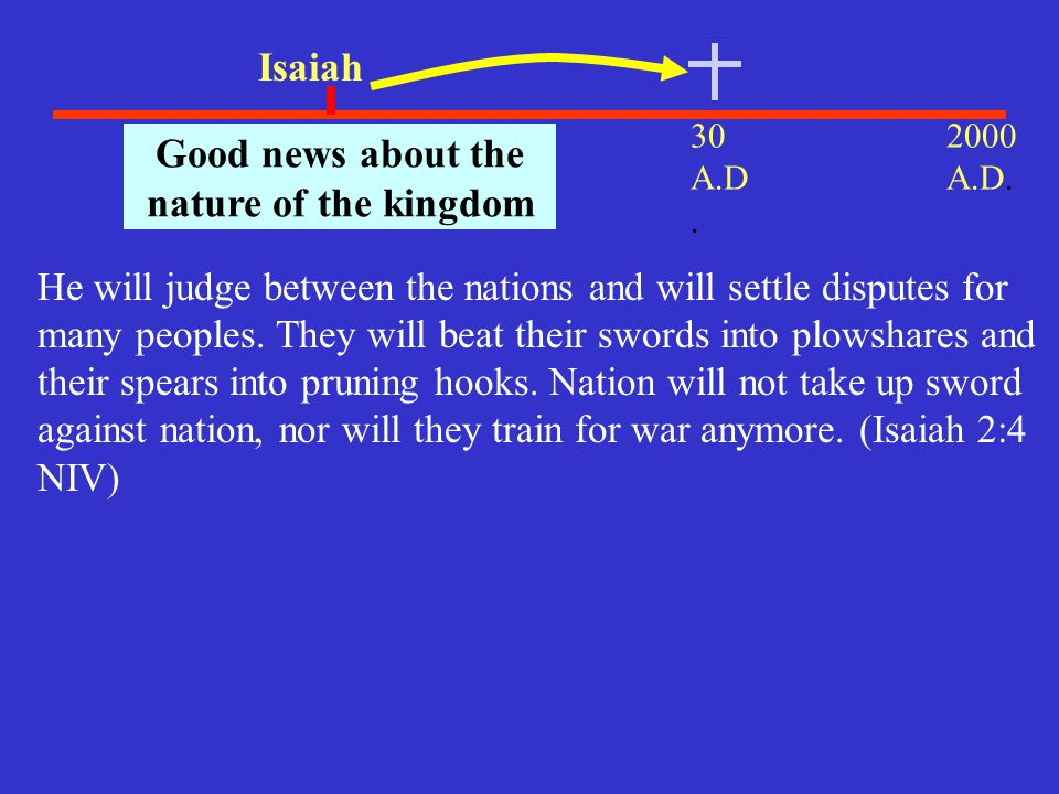 Good news about the nature of the kingdom