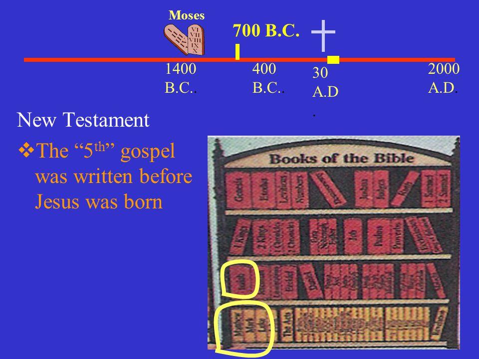 The 5th gospel was written before Jesus was born