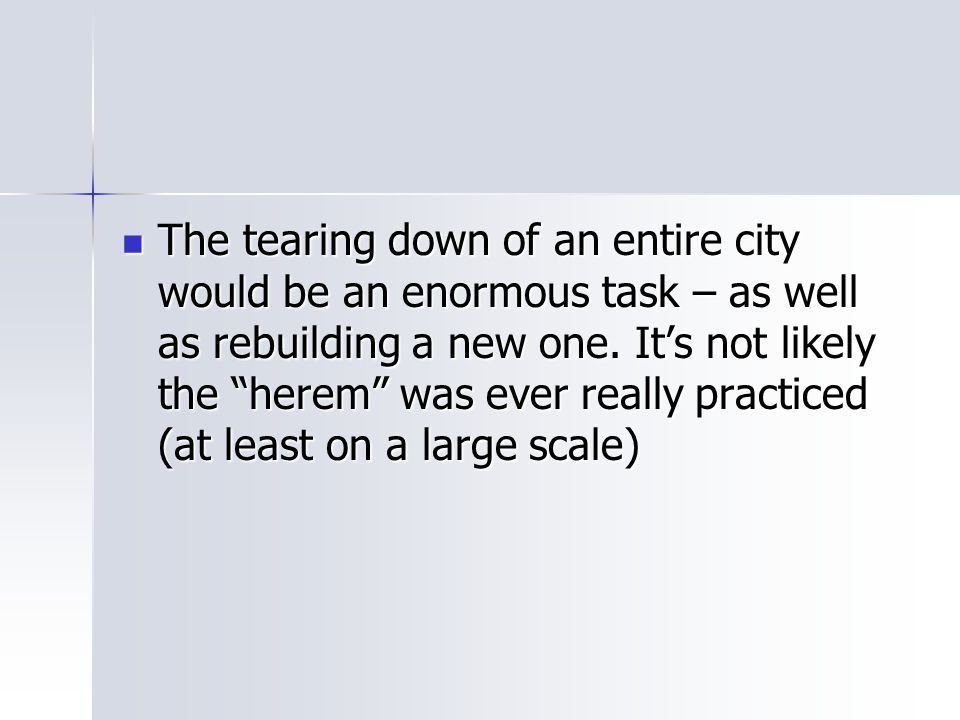 The tearing down of an entire city would be an enormous task – as well as rebuilding a new one.