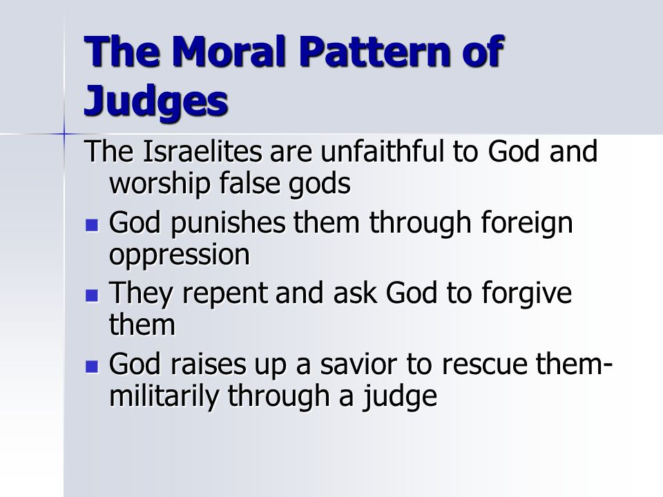The Moral Pattern of Judges