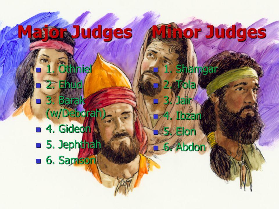Major Judges Minor Judges