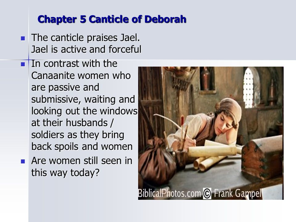 Chapter 5 Canticle of Deborah