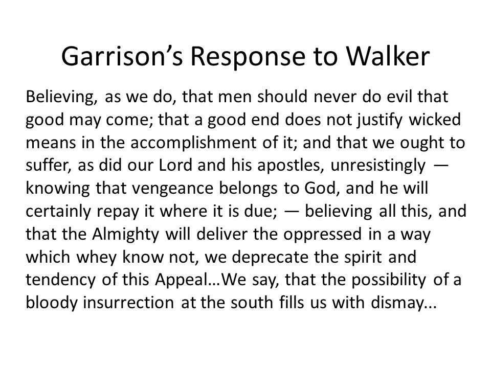 Garrison's Response to Walker