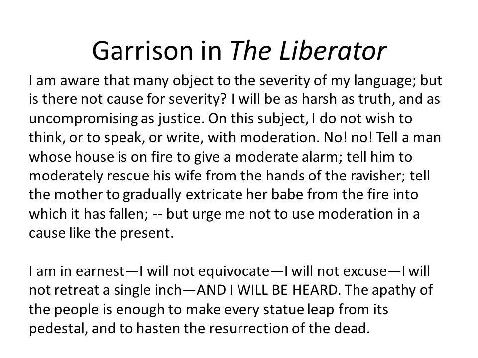 Garrison in The Liberator