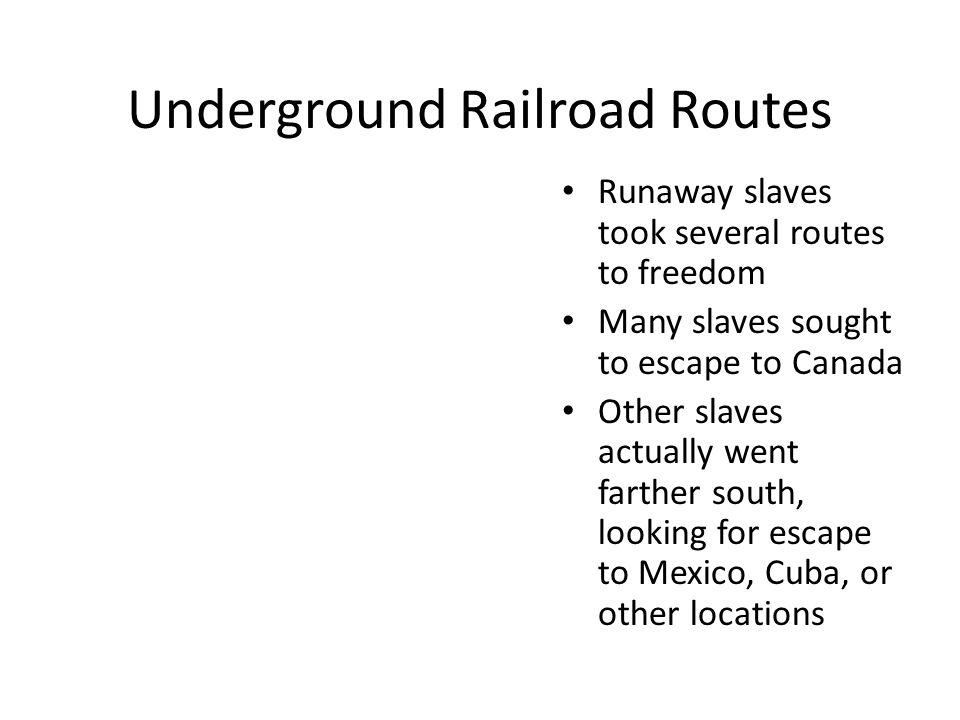 Underground Railroad Routes