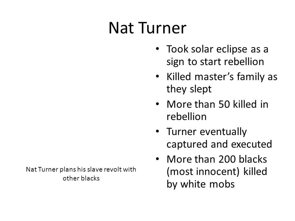 Nat Turner plans his slave revolt with other blacks
